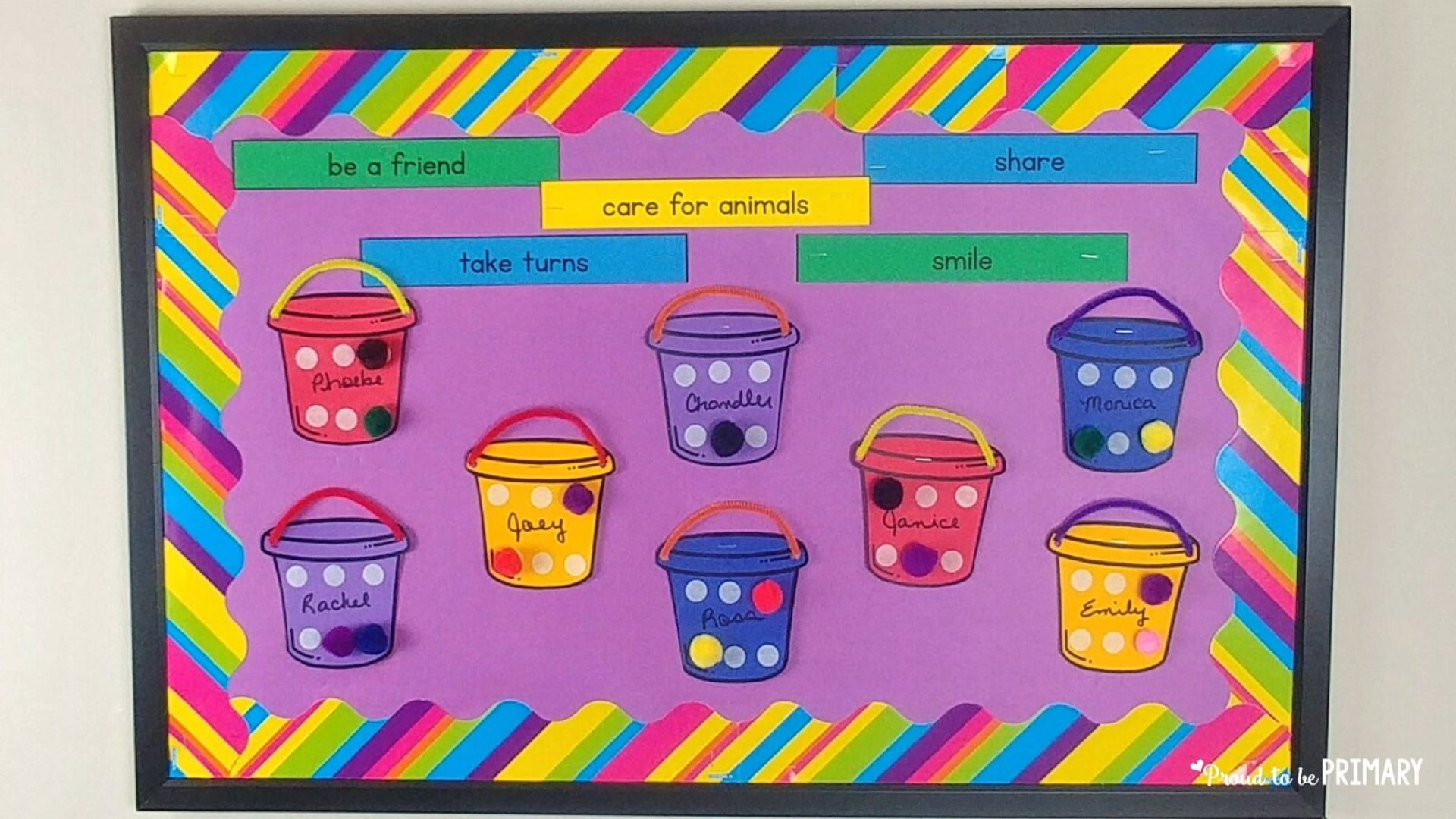 bucket filler activities - bucket filler board with sentence strips