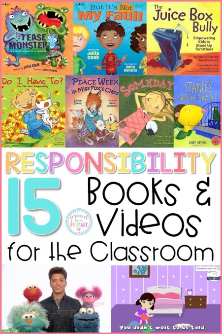 teach kids how to be responsible with books and videos