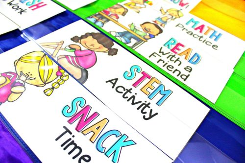back to school class fast finisher cards