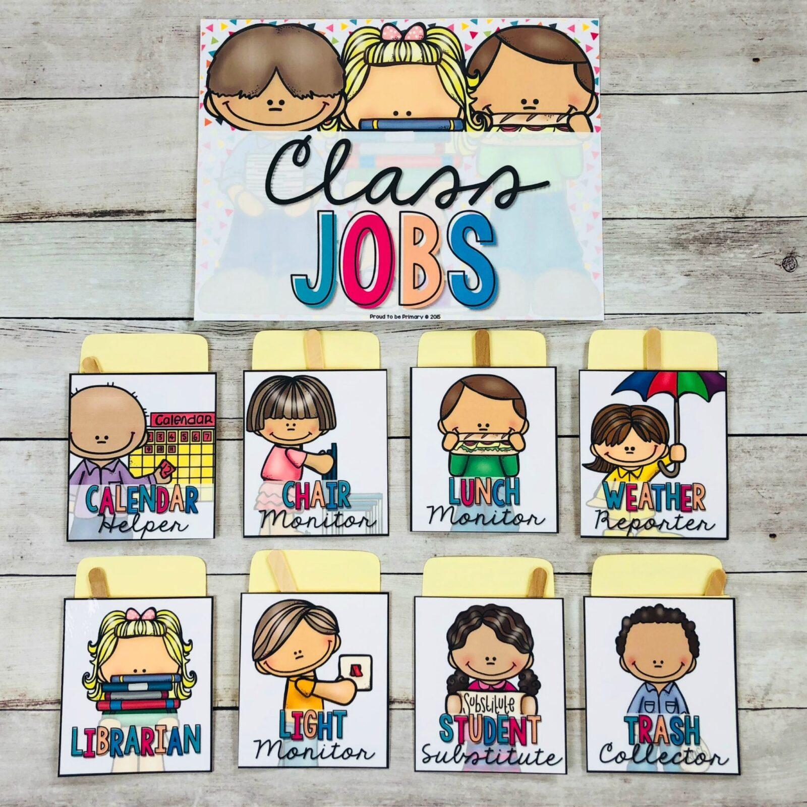 classroom management tools - classroom jobs as management tool