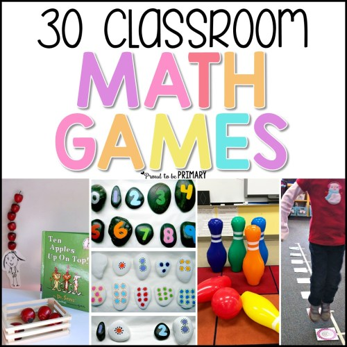 classroom math games for kids