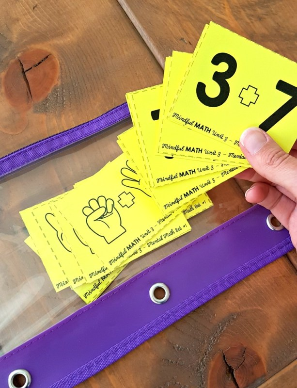 addition strategies flash cards to practice math facts