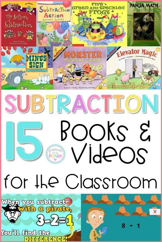 15 subtraction strategies books and videos