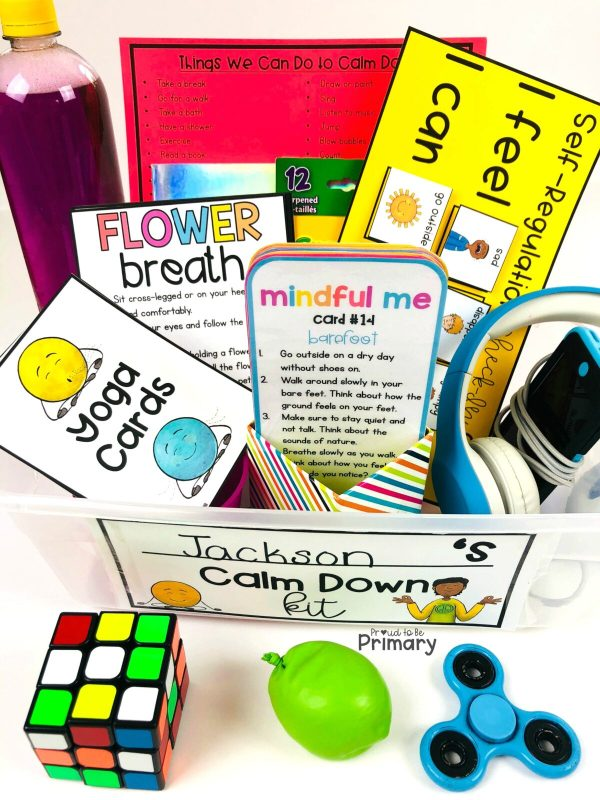 self-regulation calm down box - social-emotional learning activities
