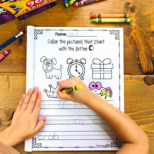 how to teach the alphabet using a coloring book