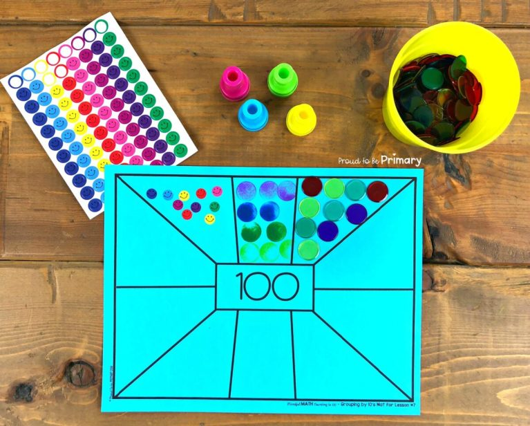 counting by 10s to 100 on counting mat