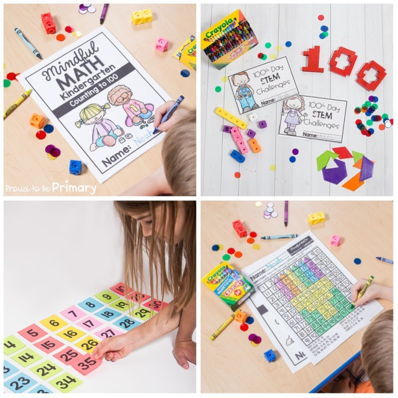 100 days of school idea: kindergarten counting to 100 unit