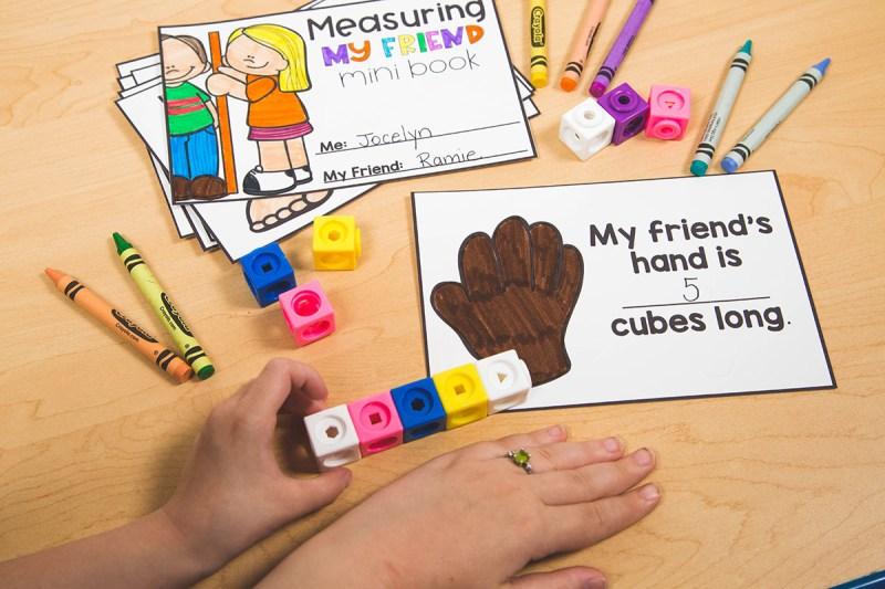 measure a friend kindergarten math activity