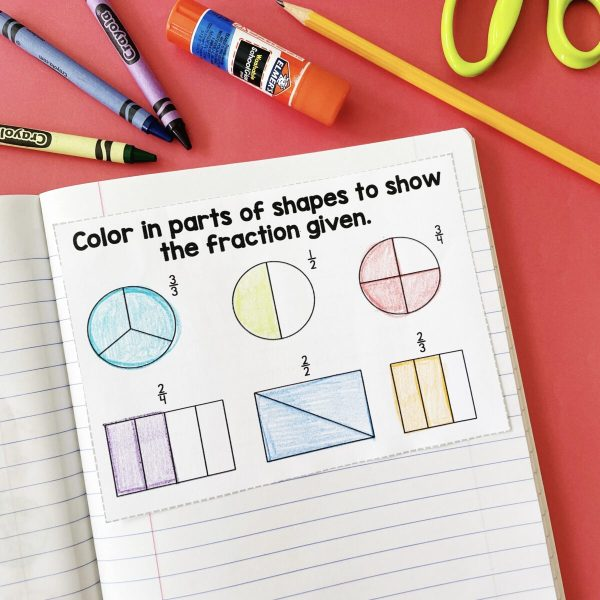 How to Make Learning Fractions Fun in the Primary Classroom - fractions math journal page