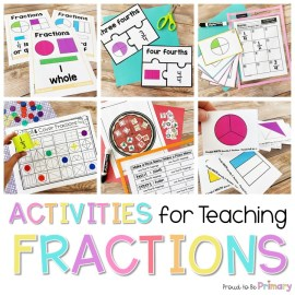 activities for teaching and learning fractions in primary k-2
