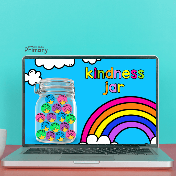 encourage random acts of kindness for kids in the classroom - kindness jar for digital online use