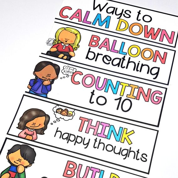 ways to calm down strategy cards