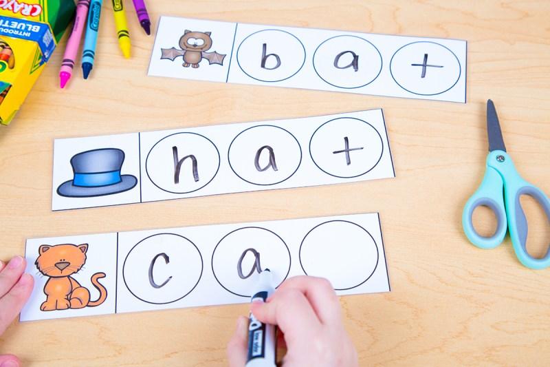 how to teach phonics word families - short vowel activities