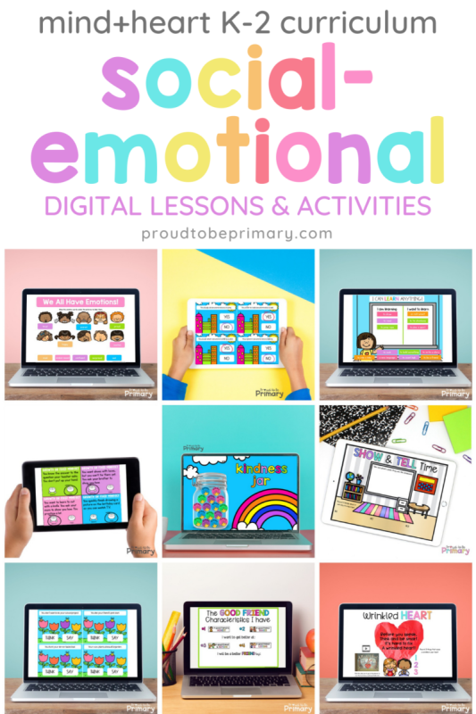 sel digital K-2 lessons and activities