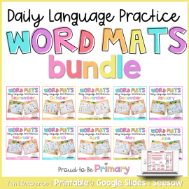 word work activity mats by proud to be primary