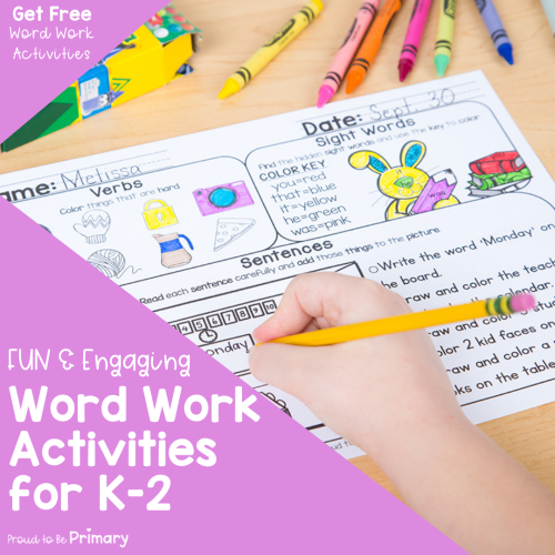 5 Fun and Engaging Word Work Activities for Little Learners