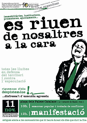 Cartell Anti Barcelona Meeting Point 2006