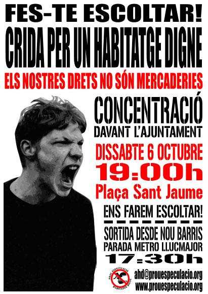 Cartell manifestació 6 octubre