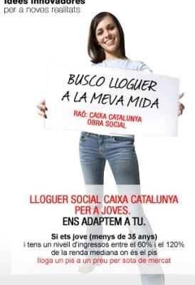 Catalunya Caixa le llama Alquiler Social