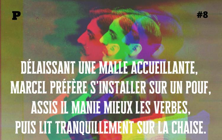 Montage avec Marcel Proust pour la contrepèterie 8