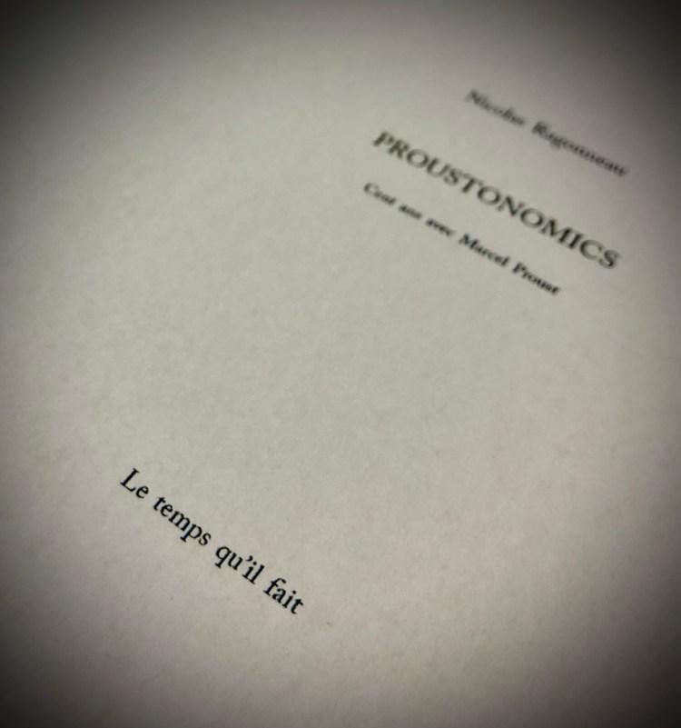 page de titre du livre Proustonomics