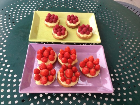 raspberry and strawberry tart