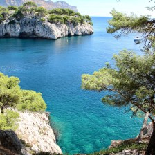 A view of the Calanques