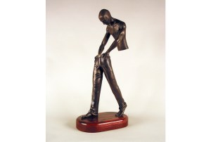 "photo of sculpture ""Age of Man"", bronze edition"