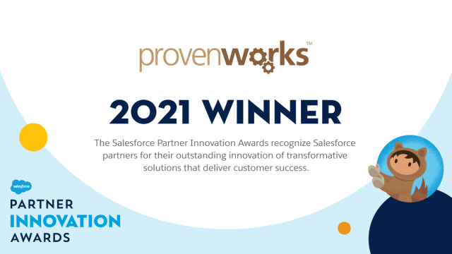 ProvenWorks win the 2021 Salesforce Partner Innovation Award in the Nonprofit Industry for their work with Malala Fund