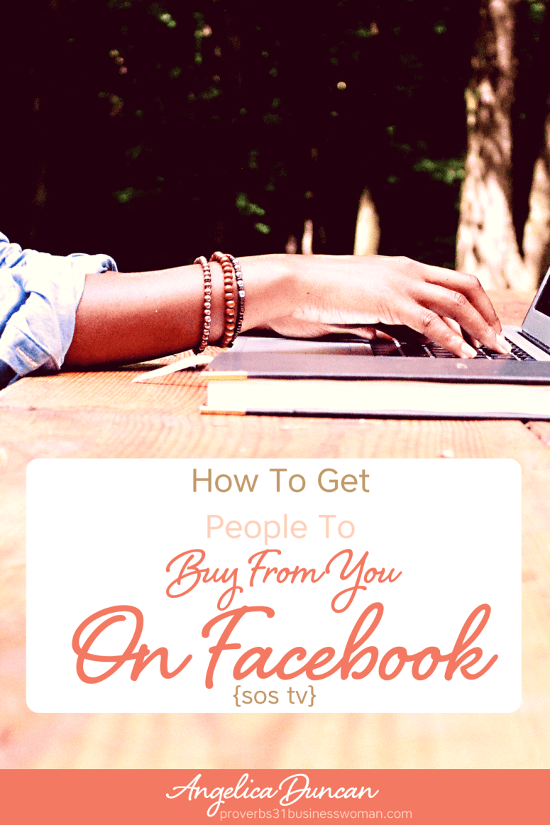 What's the secret to getting more people to buy from you on Facebook? I have the answer! Implement these strategies and watch your business BOOM...Tune in NOW! #facebook #mompreneur #onlinebusiness #wahm #womeninbusiness #christianbusiness #christianwomeninbusiness #christianentrepreneurs #proverbs31 #proverbs31woman #proverbs31businesswoman #proverbs31enrepreneur #p31 #angelicaduncan #silkoversteel #sos