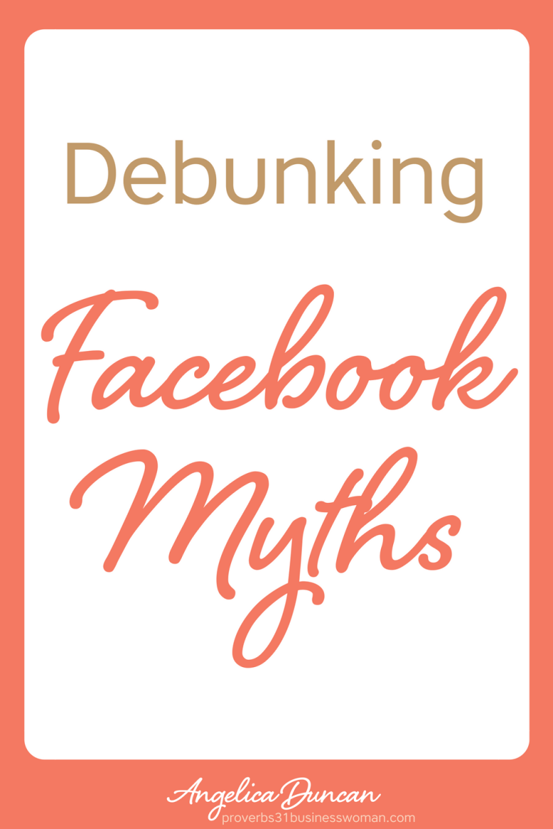 You can't believe everything you hear about Facebook. There are TONS of them, mostly of rooted in the wrong belief system. Let's debunk those myths today! #facebook #mompreneur #onlinebusiness #wahm #womeninbusiness #christianbusiness #christianwomeninbusiness #christianentrepreneurs #proverbs31 #proverbs31woman #proverbs31businesswoman #proverbs31enrepreneur #p31 #angelicaduncan #silkoversteel #sos