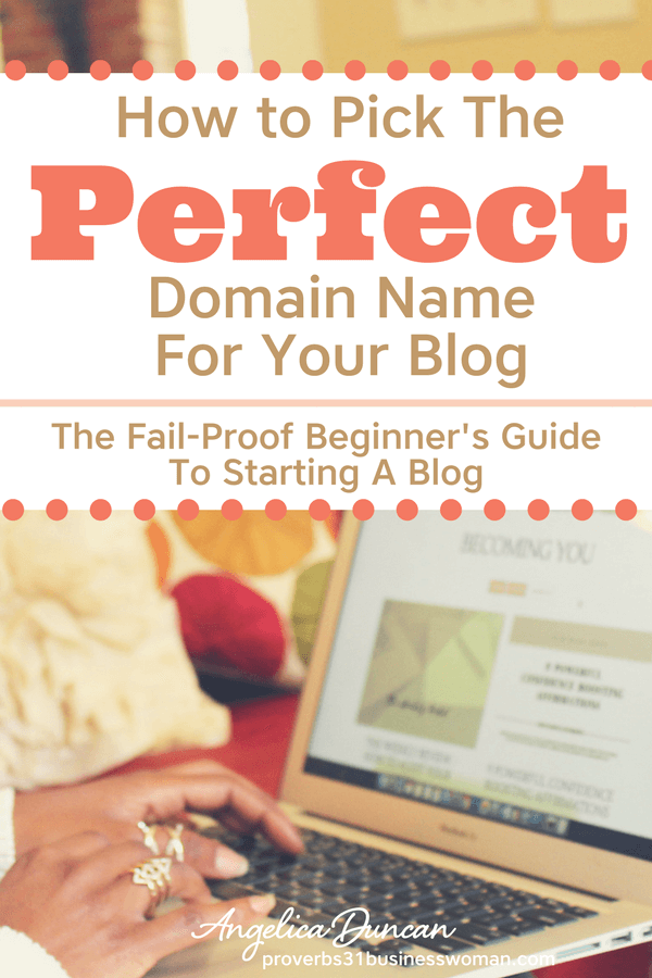 Let's pick the PERFECT domain name for your blog + get started with hosting! It's time to pull the trigger! This is part of my series >> The Fail-Proof Beginner's Guide To Starting A Blog