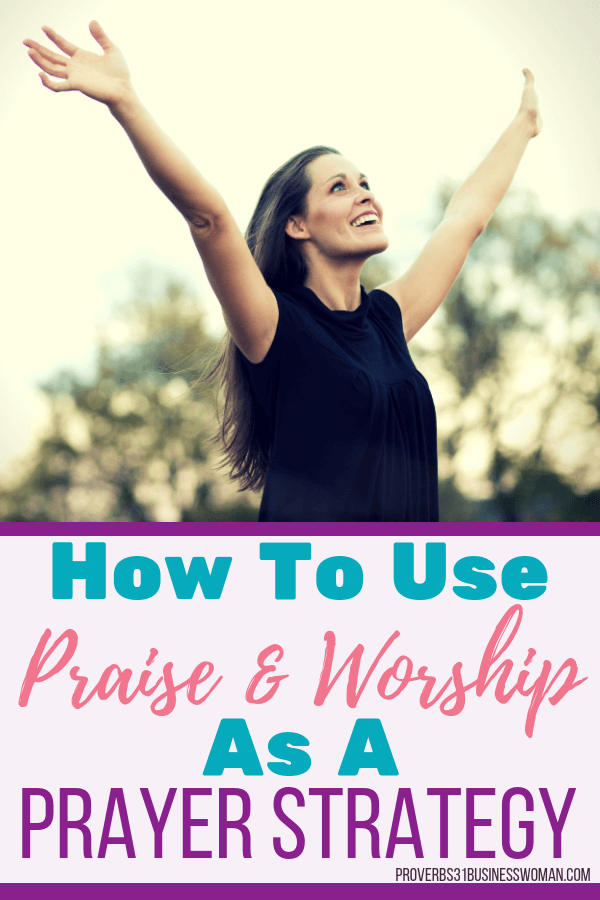 Praise and Worship   Praise and worship is a prayer strategy that can be used as a spiritual weapon to defeat the enemy. This is an effective spiritual warfare tactic used by prayer warriors and intercessors alike! Join us for an in-depth Bible Study on how to pray effective prayers! Grab your printable companion workbook after you join! #rpaise #worship #proverbs31businesswoman #prayer #prayingwoman #biblestudy #christianblogger #jesusgirl