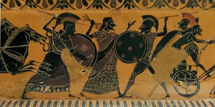 Zeus sépare Athéna et Arès, le dieu dérisoire