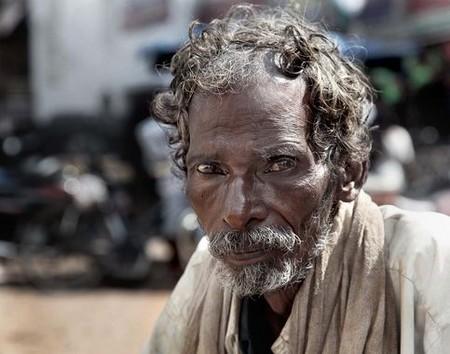 Mendiant en Inde