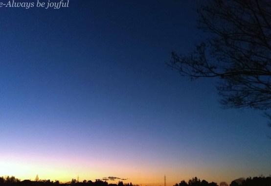 日の出直前の景色@つくば市