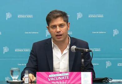 Kicillof destacó el descenso de los contagios de coronavirus en la provincia de Buenos Aires