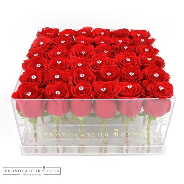 Rosas Rojas caja acrilica
