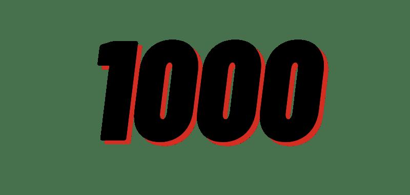 1000 vies through Google My Business.