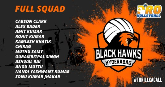 Black Hawks Hyderabad Team Squad Infographics