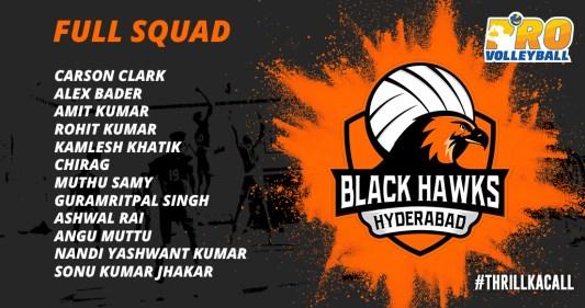 Black Hawks Hyderabad Team Squad Infographics