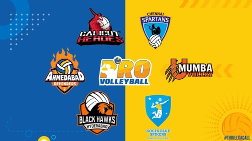 Pro volleyball teams social media accounts