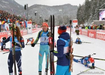 Через погану швидкість Підгрушної українські біатлоністки опустились з першого місця на третє
