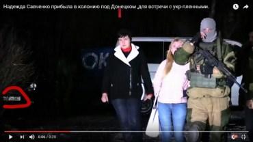 Під час поїздки в окупований Донецьк Надію Савченко зі сторони ДНР супроводжувала машина з тернопільською реєстрацією