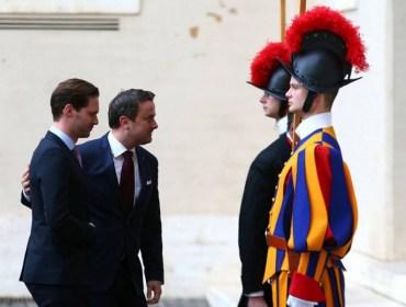 Папа Римский Франциск принял на аудиенции в Ватикане премьер-министра Люксембурга и его супруга