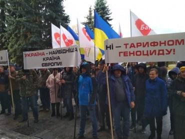 Зомбі Тимошенко пікетували в Тернополі любителів McDonald's імені Заставного