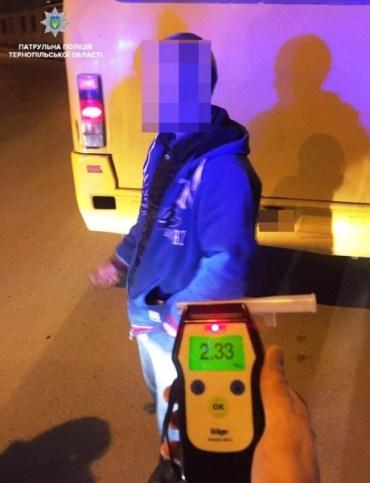 У Тернополі затримали п'яного водія маршрутки