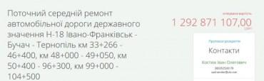 Служба автомобільних доріг у Тернопільській області відмінила процедуру відкритих торгів: знову буде ремонт по 40 метрів?
