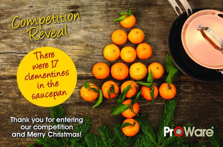 Christmas Orange Competition reveal