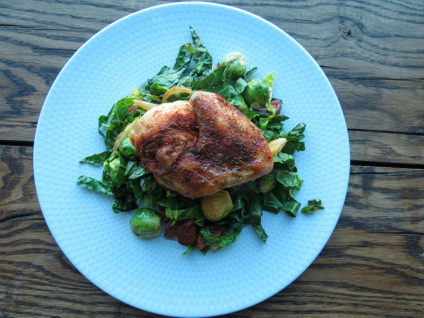 ProWare's Spanish Chicken and Brussel Sprouts